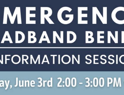 Emergency Broadband Benefit Information Session – June 3